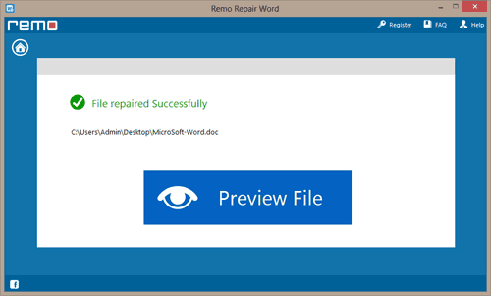 Word File Repair Tool - Word File Repaired Successfully